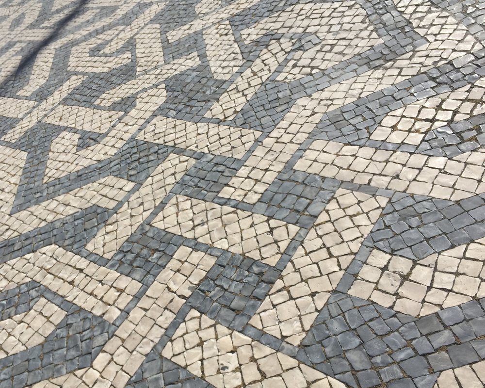 An example of the intricate sidewalks that can be found all over Lisbon.