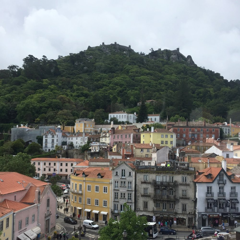 The Castelo dos Mouros sits above the city of Sintra.