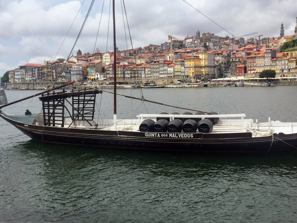 In the heart of Porto is the Douro River. Most of the Port houses are on the river's edge since it was easy to transport the barrels from the boats.